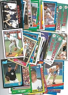 100 New York Yankees Baseball Cards 1980's - 1990's