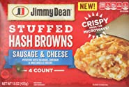 Jimmy Dean, Stuffed Hash Browns, Sausage & Cheese, 4 ct (frozen)