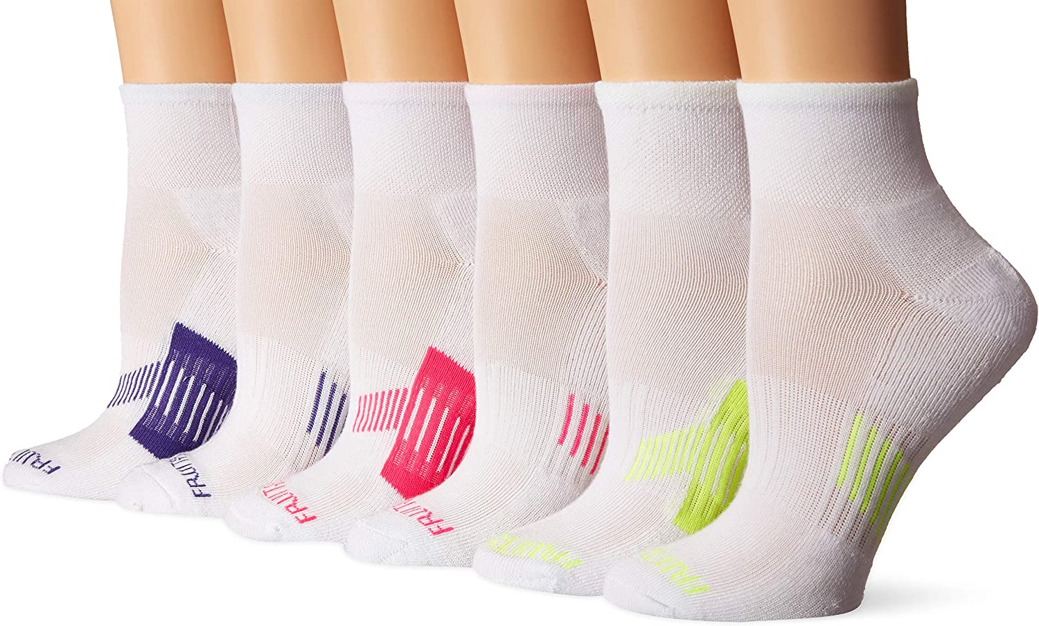 Fruit of the Loom Women's Everyday Active Ankle Socks (6 Pack)