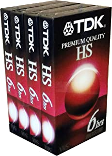 TDK 4 Pack T-120 VHS Video Tape