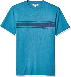 Amazon Brand - Goodthreads Men's Slub Placed-Stripe Crewneck T-Shirt