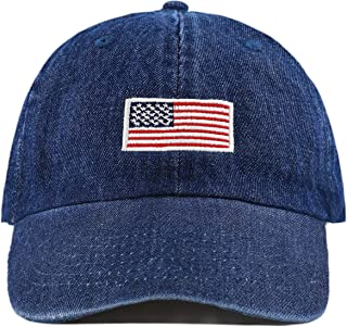 7ddfe8e765254c The Hat Depot Washed 100% Cotton Dad HAT Flag Low Profile Adjustable  Baseball Cap