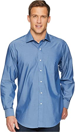 Long Sleeve Magnetically-Infused Solid Dress Shirt - Spread Collar
