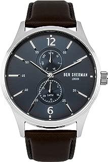 WB047UBR Mens Spitalfields Vinyl Brown Leather Strap Watch