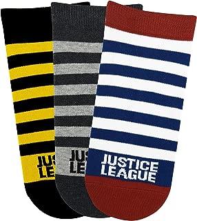 Justice League Men's Stripe Low Cut Socks
