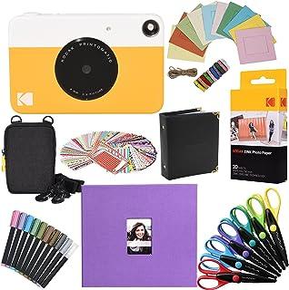 KODAK Printomatic Cámara instantánea (Amarilla) Paquete de Regalo con con Papel fotográfico Zink (20 Hojas) y más