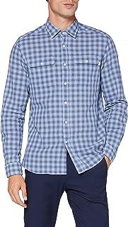 HKT by Hackett Hkt Blue Ln Chk Camisa para Hombre
