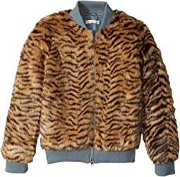 Stella McCartney Kids - Tilly Faux Fur Tiger Print Bomber Jacket (Toddler/Little Kids/Big Kids)