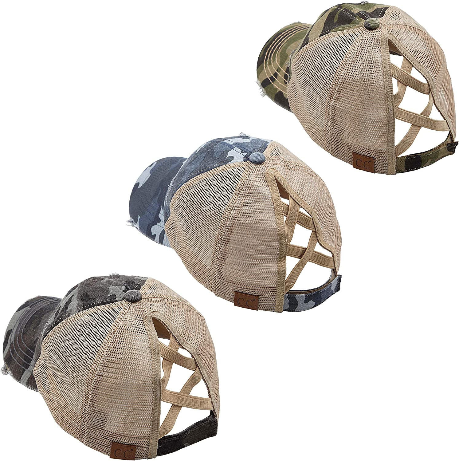 Funky Junque Criss Max 58% OFF Cross Hat Pony Baseball Cap Distressed Womens Attention brand