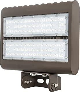 Westgate Lighting Outdoor LED Flood Light Fixture Yoke Mount - Shoebox Street Area Parking Pole Security Floodlights - 120-277V - IP65 DLC Approved (150 Watt 5000K Cool White Dark Bronze)