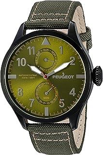 Peugeot Men's 'Day Date Calendar' Quartz Metal and Nylon Watch