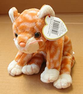 TY Beanie Babies Amber the Cat Stuffed Animal Plush Toy - 6 inches long