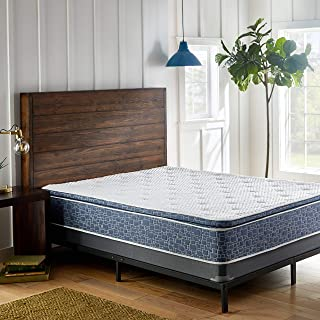 AMERICAN BEDDING 10-inch Plush Pillow Top Support Foam and Spring Mattress, Comfort 4 Way Stretch top, Cool Sleep, Queen