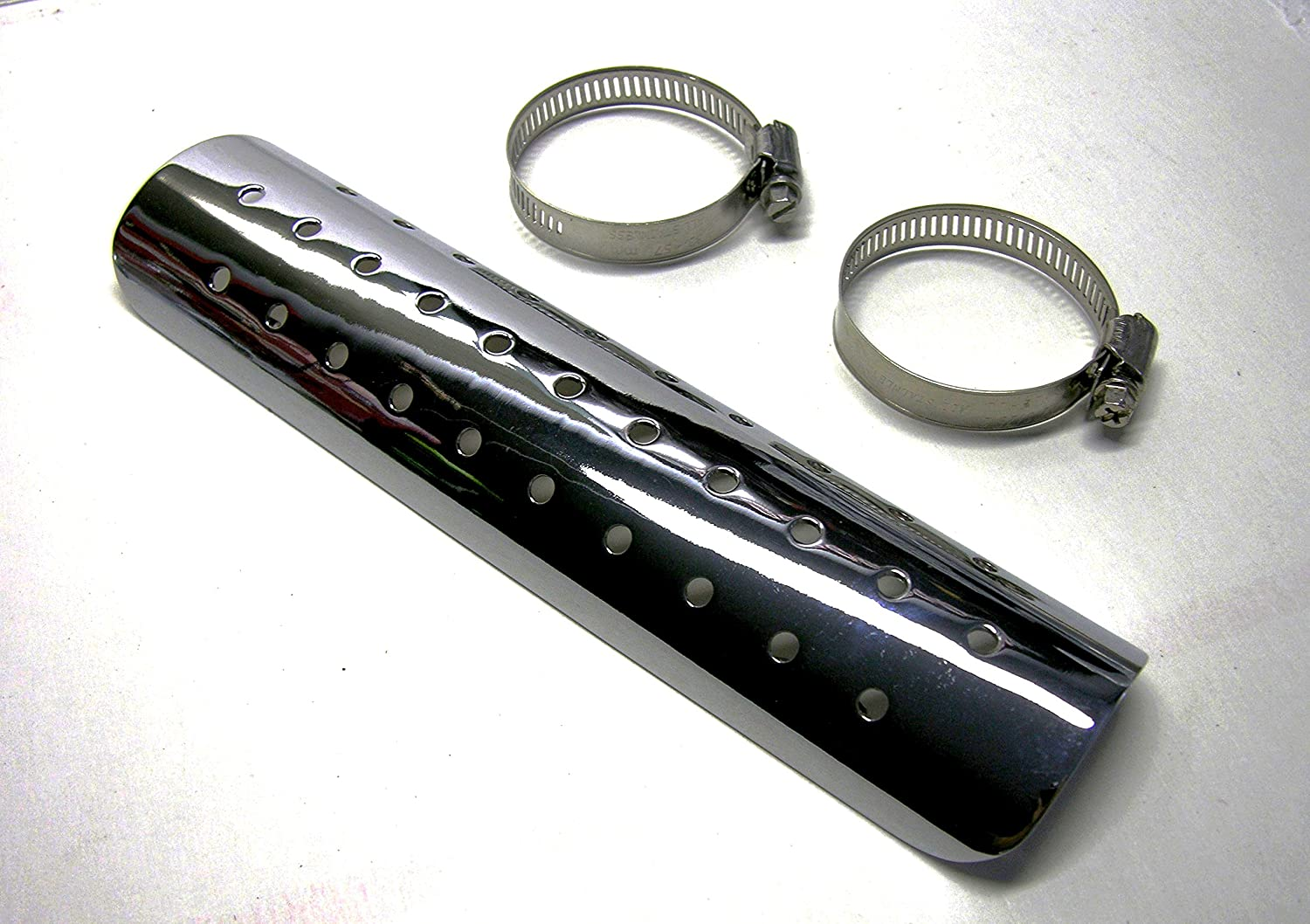 Mr Luckys Chrome 9 Inch Award-winning store Harley for Heatshield Motorcycle Bobber Max 89% OFF