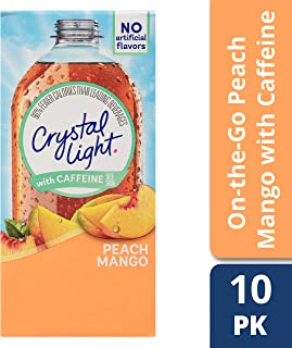 Crystal Light On-the-Go Sugar-Free Powdered Peach Mango Drink Mix, 10 - 0.07 oz Packets