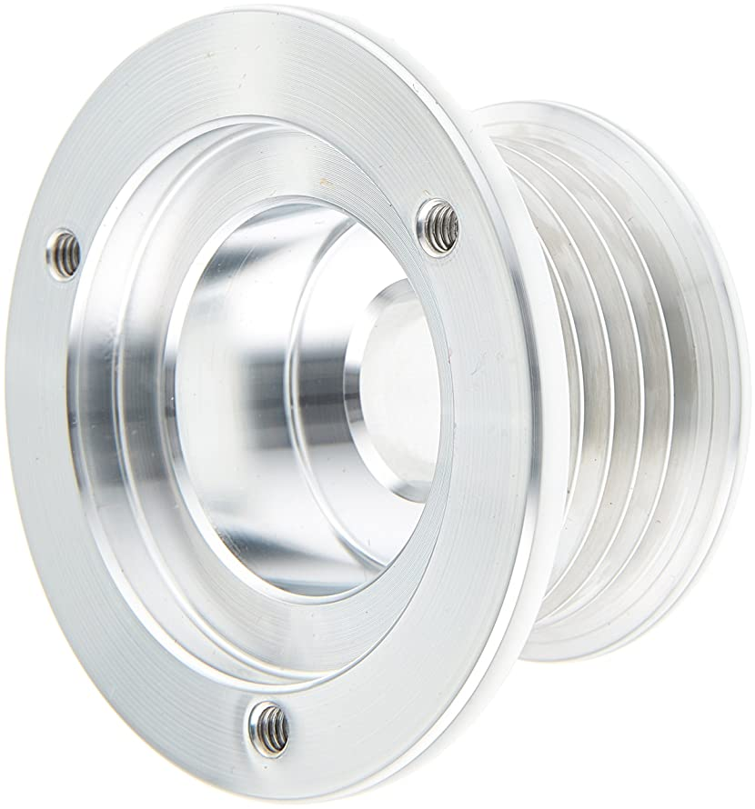 March Performance 112 Clear Powdercoat Billet Aluminum 6-Rib Alternator Pulley with Cover