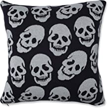 Pillow Perfect Indoor Glitzy Skulls Throw Pillow, 18 X 18 X 5, Black