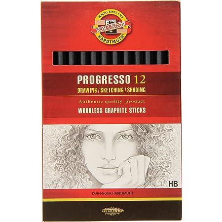 Koh-I-Noor Progresso 6B Woodless Graphite Crayon Boîte de 12