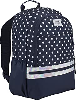 Ultimate Girls Concept Backpack, Navy/White Polka Dot Print/Iridescent Trim