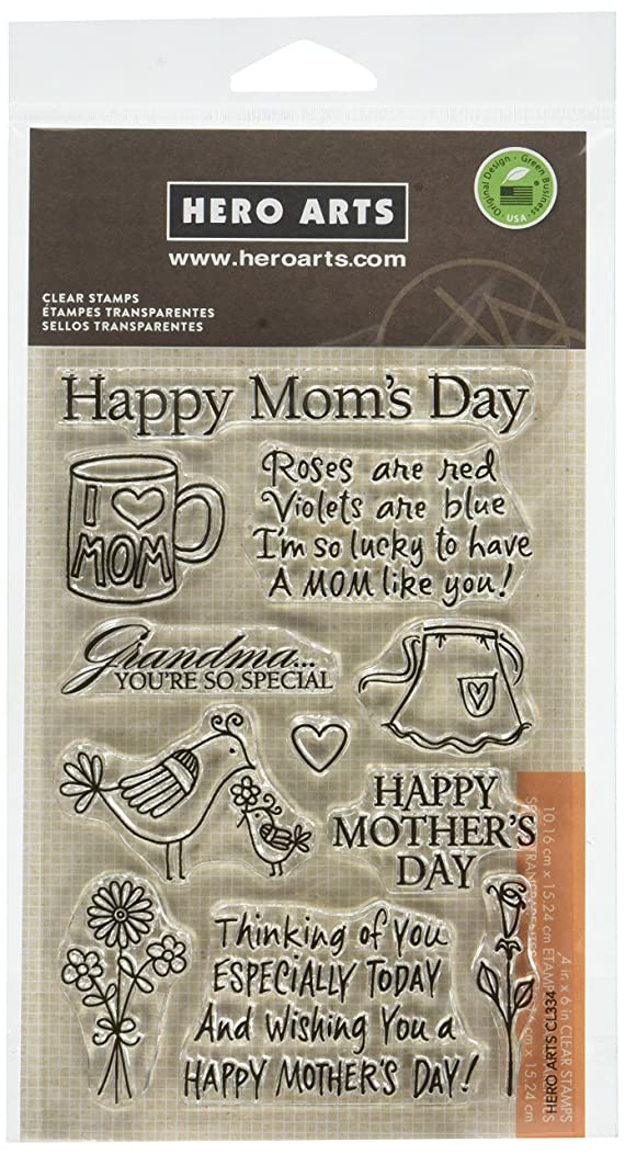 Hero Arts Happy Mom's Day Stamp Set, Clear