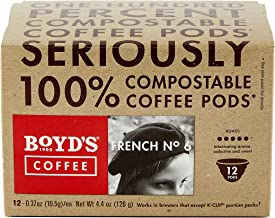 Boyd's French No. 6 Coffee - Dark Roast - Single Cup (12 Count)