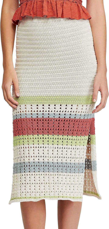Free People Women's Far from Here Crochet Midi Skirt