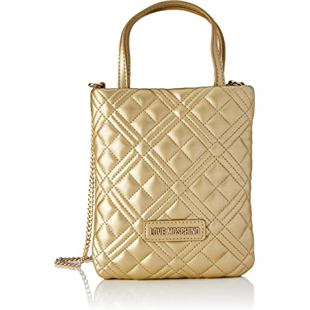 Love Moschino Damen Pre Collezione Autunno Inverno Schultertasche, Kollektion Herbst Winter 2021, Gold, Einheitsgröße