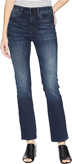 Kendra Straight Leg Denim in Deep Ink/Gold