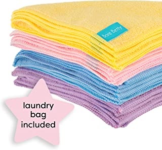 20 x Microfibre Makeup Remover Wipes with laundry bag | Reusable soft facial cloths for beauty routine | Great make up removing towel or cleansing cloth