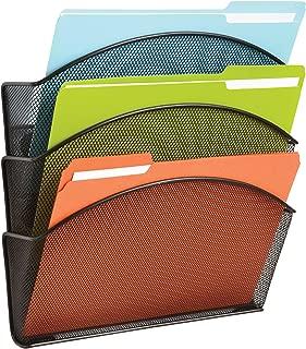 SAF4175BL - Safco Magnetic Triple File Pocket