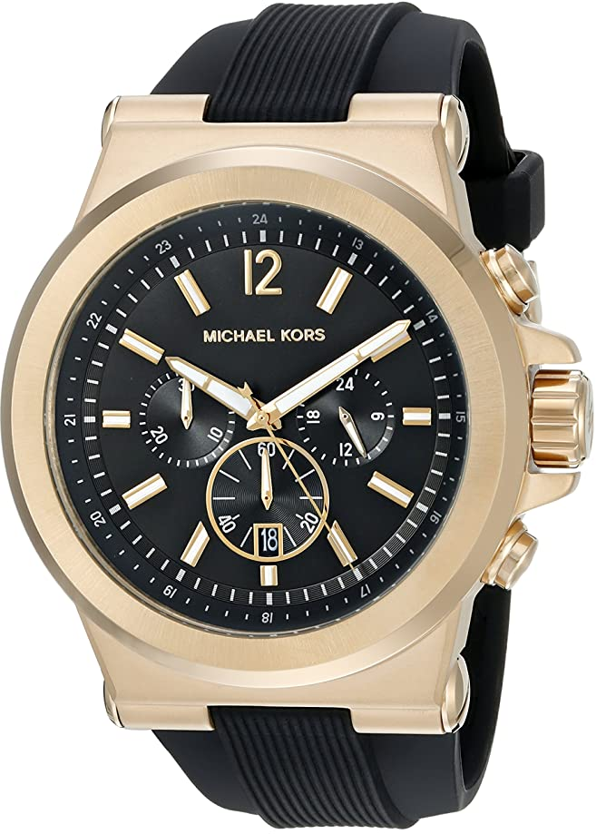 Michael Kors Men's Goldtone and Black Dylan Watch