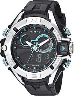 Men's TW5M23000 DGTL 47mm Bold Combo Black/Silver-Tone/Blue Resin Strap Watch