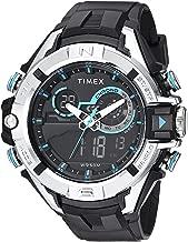 Timex Men's TW5M23000 DGTL 47mm Bold Combo Black/Silver-Tone/Blue Resin Strap Watch