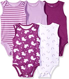 Hanes Ultimate Baby Flexy 5 Pack Sleeveless Bodysuits...