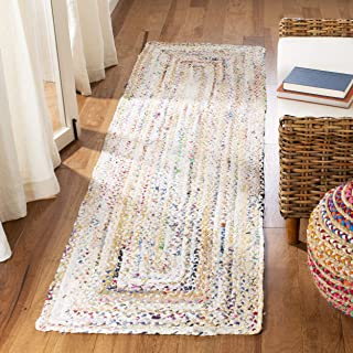 Safavieh Braided Collection BRD210B Handwoven Ivory and Multicolored Area Rug (2' x 3')