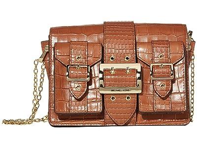 MICHAEL Michael Kors Hayden Medium Pocket Messenger (Chestnut) Messenger Bags