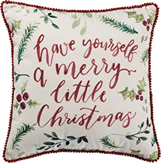 Primitives by Kathy Throw Pillow, Merry Christmas, 15 x 15-Inches