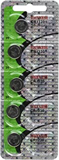 Maxell CR1220 3V Lithium Coin Cell Watch Batteries 5-Pack