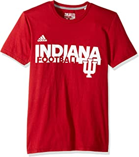 adidas NCAA Indiana Hoosiers Adult Men Sideline Grind Football Go-to Performance S/Tee, Medium, Victory Red