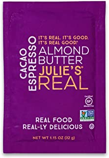 Julie's Real Nut Butter, Cacao Espresso Almond Butter, Single Serve Packets - 10 PACK