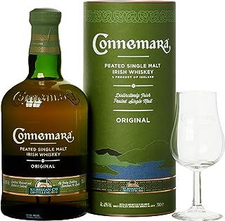 Connemara Irish Peated Malt mit Geschenkverpackung Glas Whisky 1 x 0.7 l