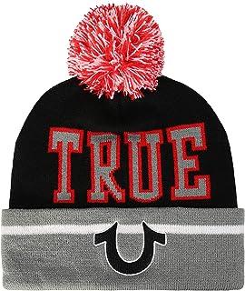 True Religion Men's Pom Watchcap, Black,One Size Fits All