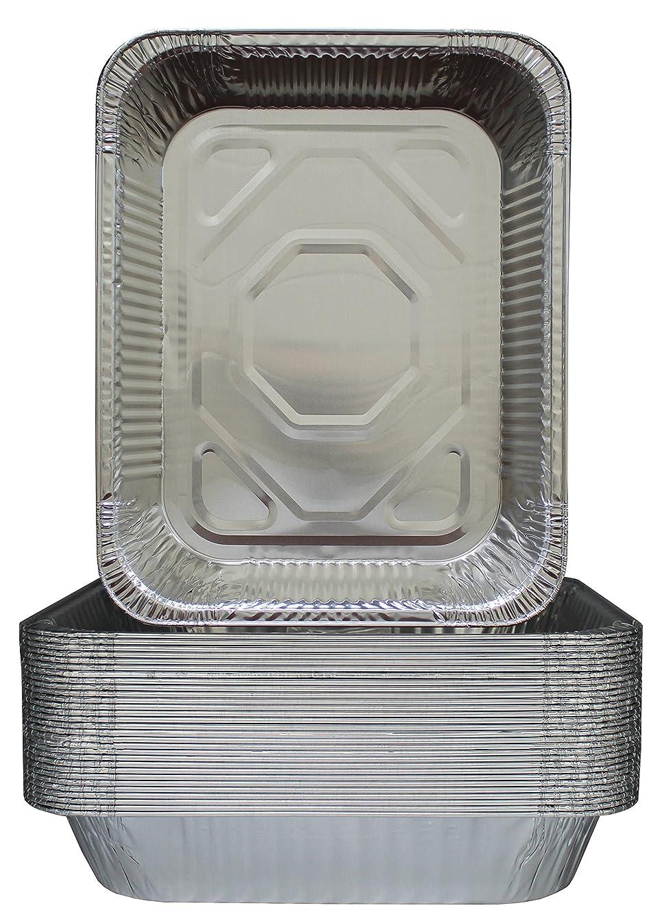 30-Pack Aluminum Half-Size Roasting Pans - Super-Thick 9x13