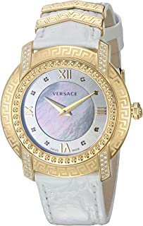 Women's 'DV-25' Swiss Quartz Stainless Steel and Leather Casual Watch, Color:White (Model: VAM060016)