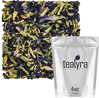 Tealyra - Blue Butterfly Pea Flower Tea - 100% Natural Dried Pure Whole Flower - Organically Grown in Thailand - 112g (4-ounce)