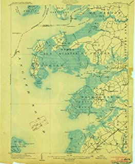Maryland Maps - 1903 Deal Island, MD USGS Historical Topographic Map - Cartography Wall Art - 35in x 44in