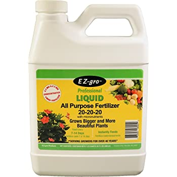 20 20 20 Fertilizer is an All Purpose Plant Food and Garden Fertilizer That is E Z to Mix and E Z to Use   EZ-gro Liquid Fertilizer is a Concentrated Water Soluble Fertilizer   1 Quart (32 oz)