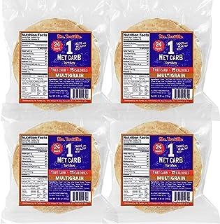 Mr. Tortilla 1 Net Carb Tortilla Wraps (96 Tortillas) | Keto, Low Carb, Low Calorie, Vegan, Kosher | (Multigrain)