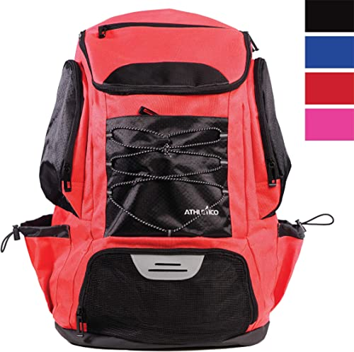 Athletico Swim Backpack - Swim Bag with Wet & Dry Compartments for Swimming, The Beach, Camping - Pool Bags Include L...