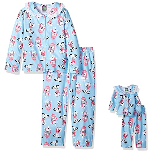 5274f513d3 Dollie   Me Girls  2 Piece Button Front Sleepwear Set